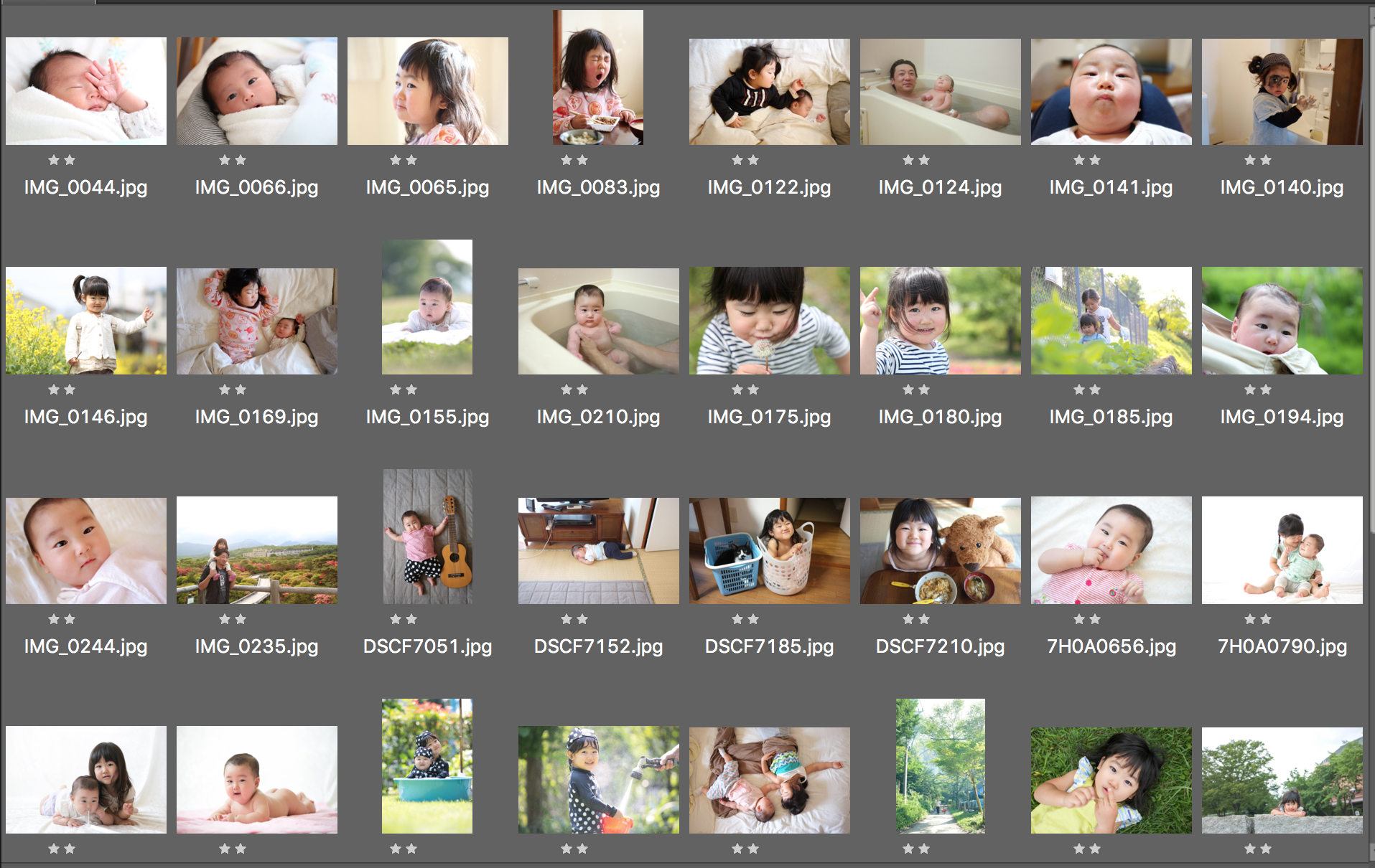 の 写真 整理 子供
