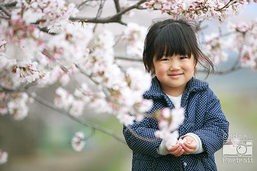子供 望遠レンズ 桜