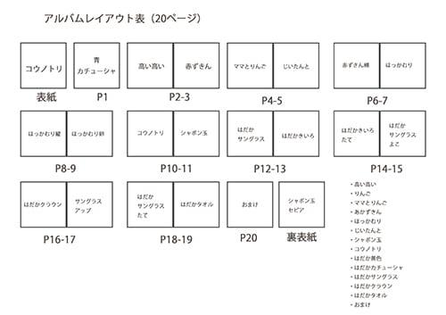 アルバムレイアウト表2