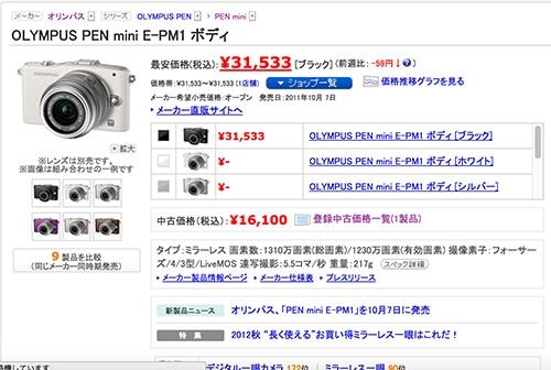 価格コムE-PM1ボディ