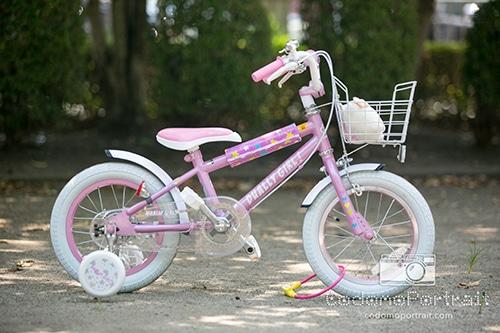 ピンク星人の長女が選んだブリブリの自転車。